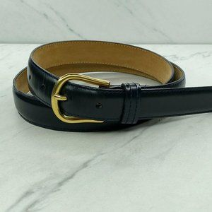 Talbots Vintage Italian Blue Leather Belt Large